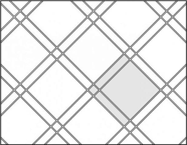 Комбинированная паркетная раскладка (плитка трех видов)