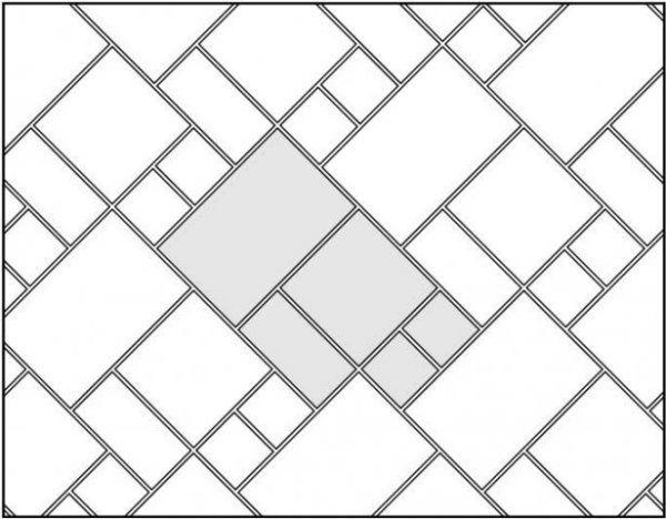 Комбинированная раскладка (плитка четырех видов)
