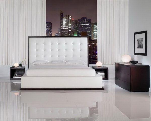 Наливной пол в интерьере спальни