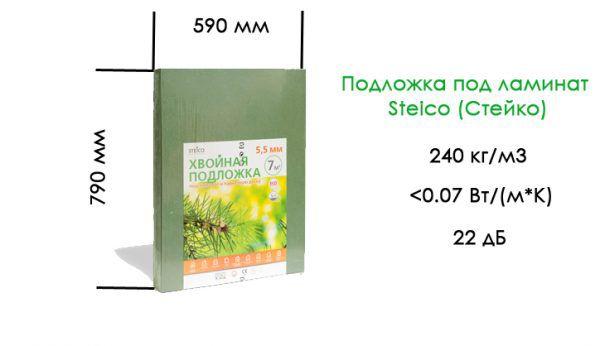 Подложка под ламинат Steico (Стейко). Технические характеристики
