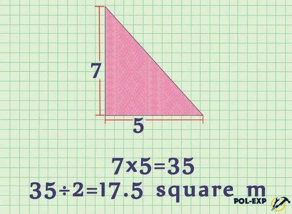 Пример расчета площади треугольника
