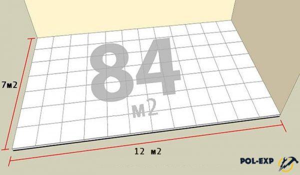 Расчет количества плитки на пол
