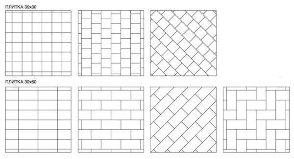 Схемы раскладки напольной плитки