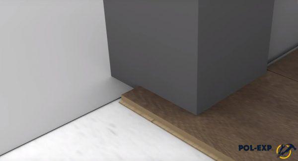Укладка ламината в районе дверного проема