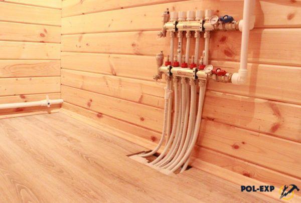 Водяной теплый пол под деревянное напольное покрытие