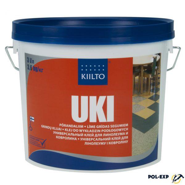 Высокопрочный клей для линолеума и ковровых покрытий Kiilto Uki
