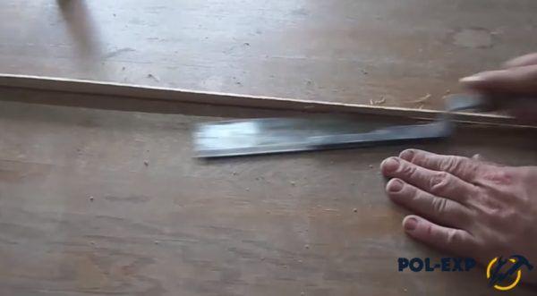 Излишки нужно спилить ножовкой