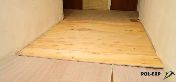 Укладка листов фанеры на пол