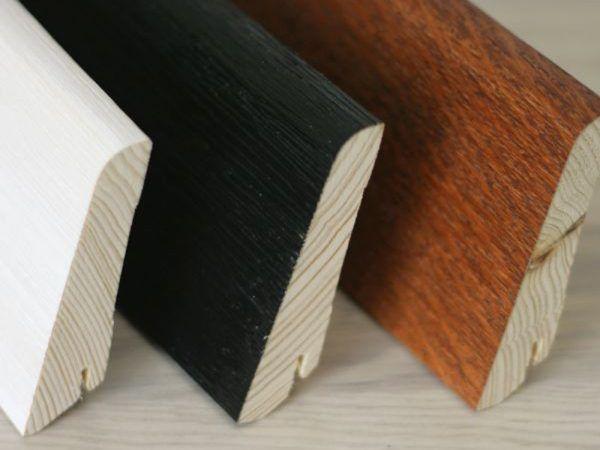 Деревянные плинтуса удобно резать ножовкой по металлу
