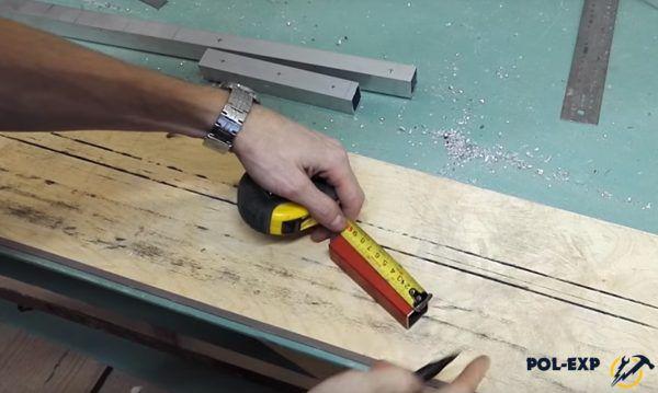 Длина стальной профильной трубы должна составлять 100 мм