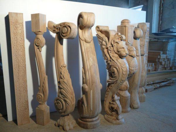Художественно-декоративные балясины из дерева ручной работы