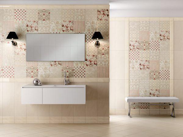 Керамическая плитка и плинтус для ванной Vallelunga Via Veneto
