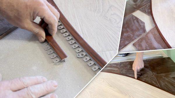 Комбинированный пол в прихожей - плитка и ламинат