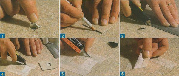 На фотографий подробная инструкция по ремонту