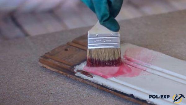 Нанесение смывки на окрашенную поверхность