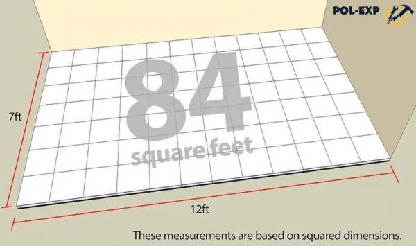 Определяется площадь комнаты