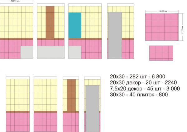 Пример расчета количества керамической плитки