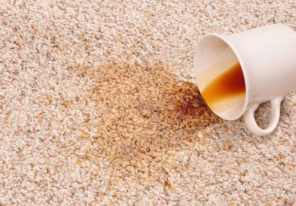 Пятно от кофе на ковролин