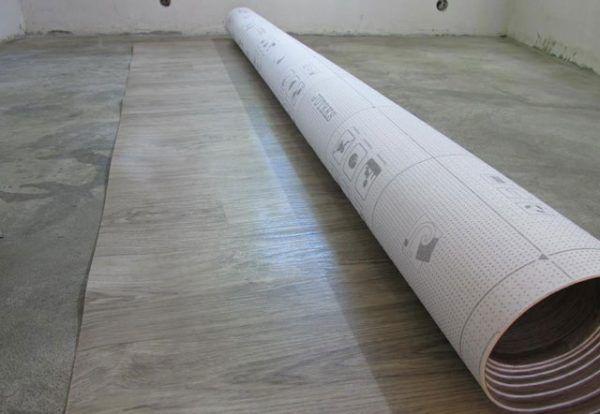 Укладка линолеума поверх стяжки