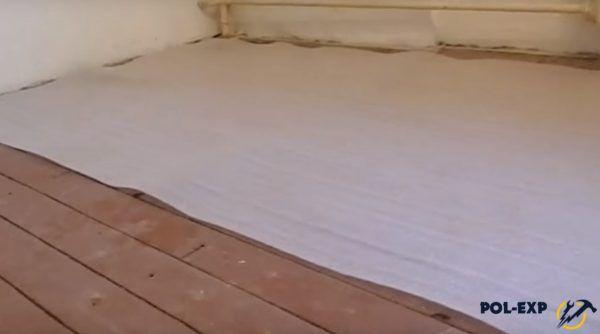 Укладка тонкой подложки