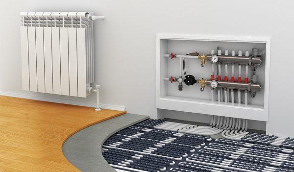 Водяной теплый пол максимально эффективен в больших помещениях