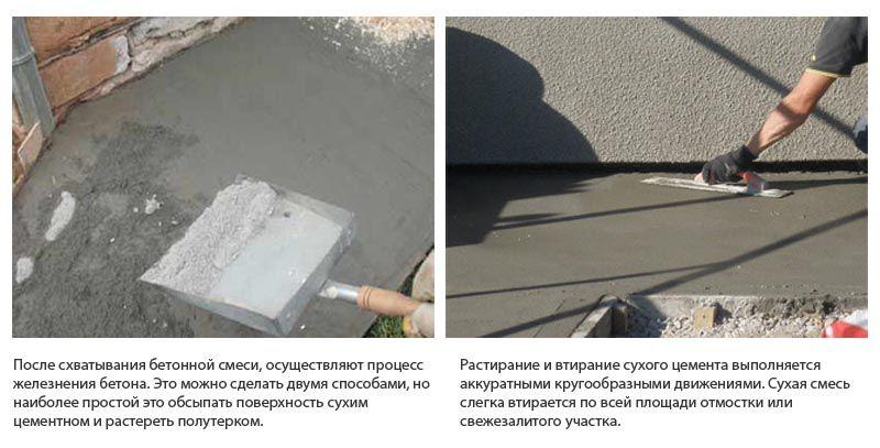 что такое железнение бетонной поверхности