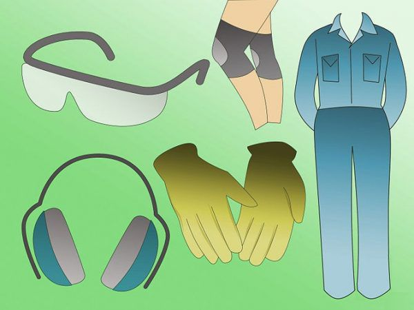 Защитная одежда и снаряжение при удалении напольной плитки
