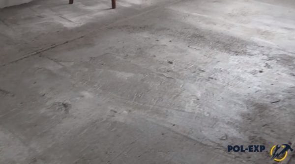 Вид на залитую стяжку с керамзитом