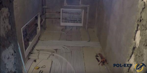Разводка труб для радиаторов и теплого водяного пола