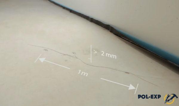 Перепады высоты основания должны быть в пределах 2-х мм на 1 м