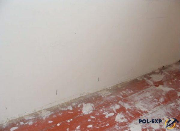 Так выглядит разметка на стенах