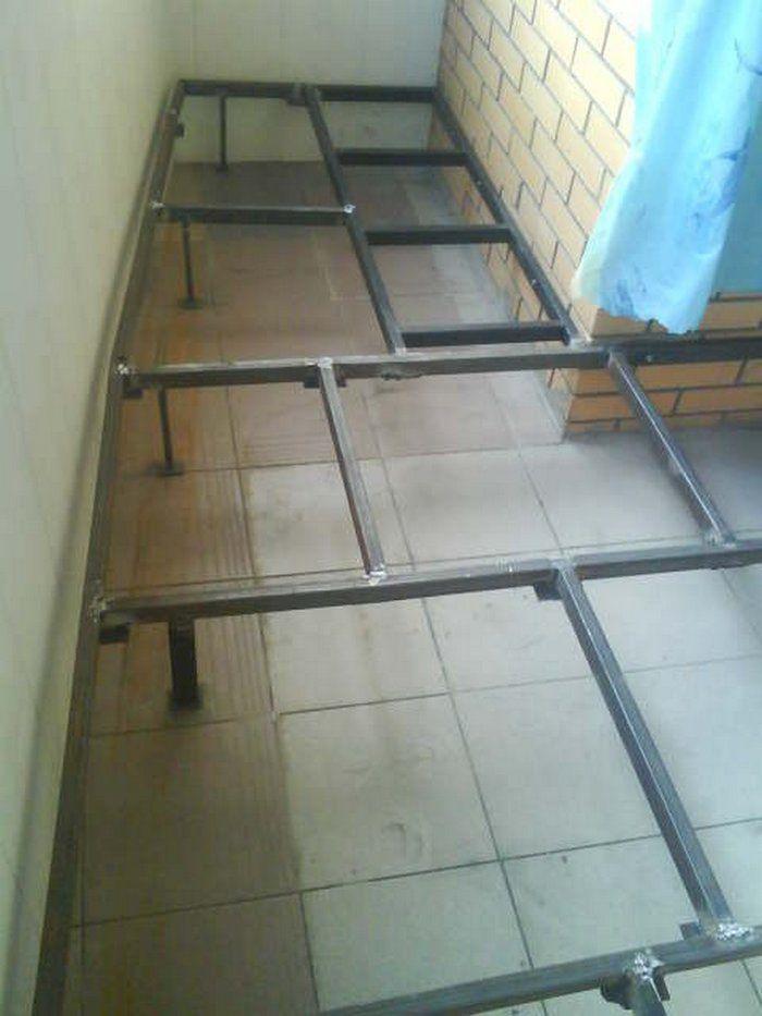 Как поднять пол на балконе на 20 или 30 см своими руками - ф.