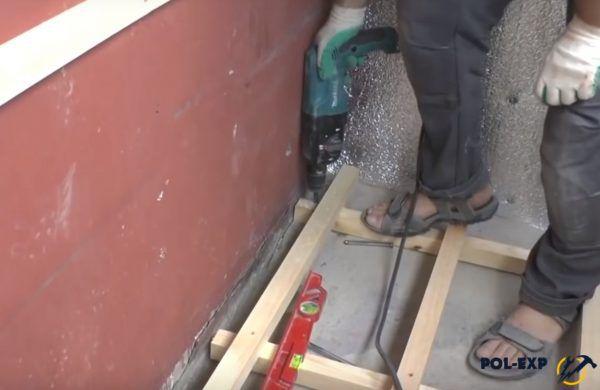 Фиксация деревянных брусков