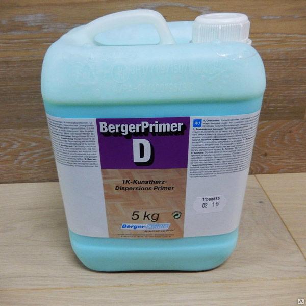 Грунтовка дисперсионная для паркета под клей Berger Primer D