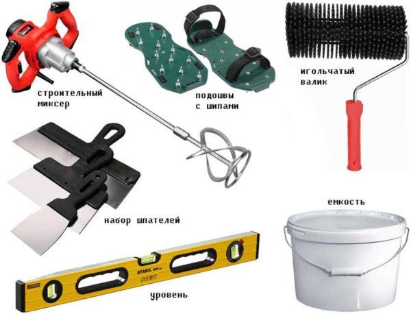 Инструмент для заливки самовыравнивающихся смесей наливного пола