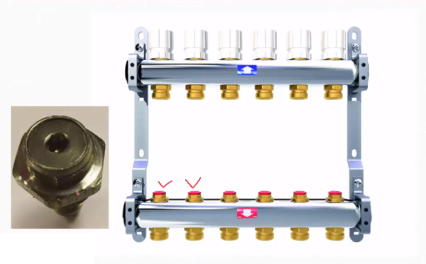 Коллектор с регулировочными клапанами