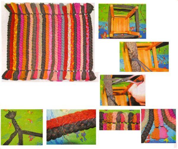 Kovrik-iz-kosichek-etapy-izgotovleniya-600x500 Как сделать ковёр своими руками: история развития ремесла, материалы для изготовления и мастер-класс