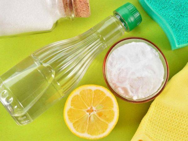 Лимон, уксус и сода