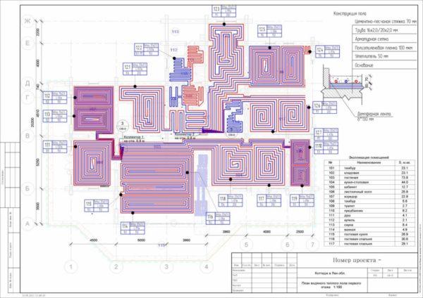 Лучше всего проектировать систему отопления на стадии строительства дома
