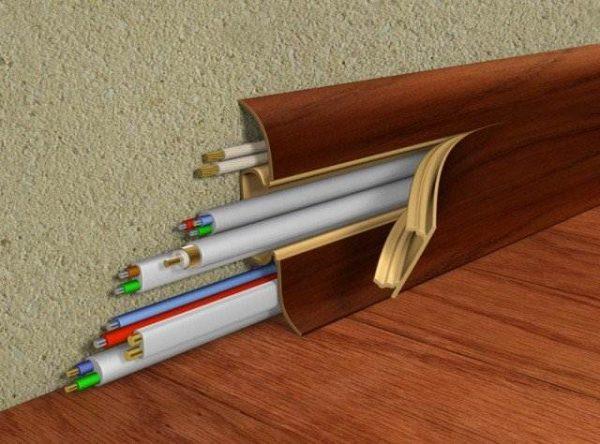 Плинтус пластиковый с кабель каналом