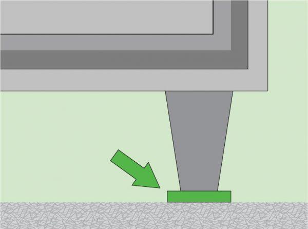 Под узкие ножки мебели лучше подложить специальные подкладки. Они значительно уменьшат нагрузку и снизят уровень механического воздействия на линолеум