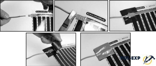 Подведите оголенный провод к наконечнику и зажмите его с помощью пассатижей или молотка