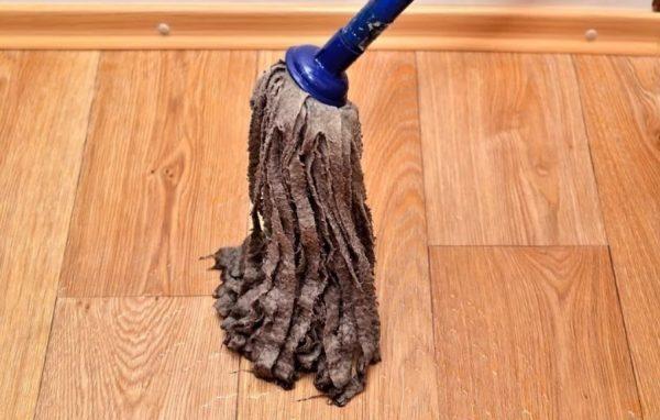 Повторная влажная уборка