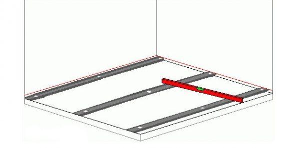 Расстояние между линиями должно быть на 15–20 см меньше дины правила