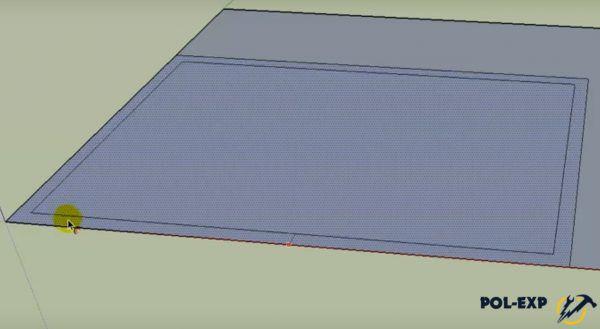 Рисуется макет комнаты
