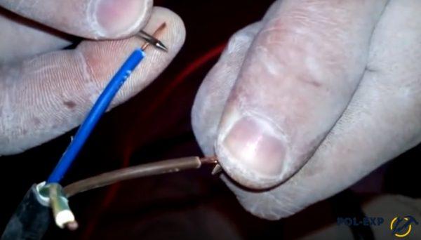 Щупы устанавливаются на провода