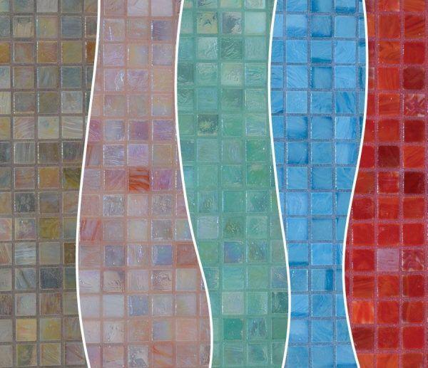 Сочетание цвета затирки и оттенка мозаики