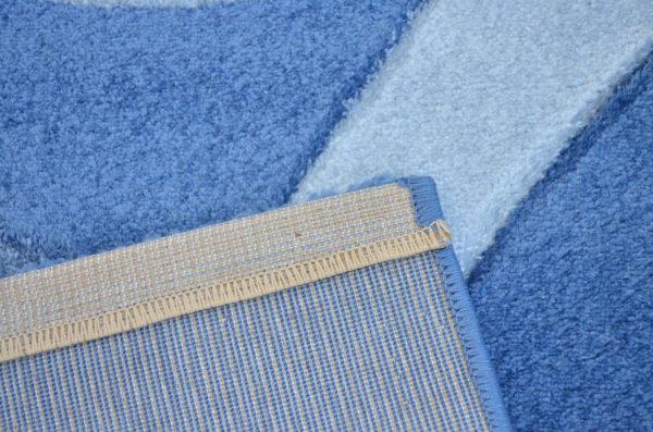 Стриженный ковер - полипропилен синий с голубым