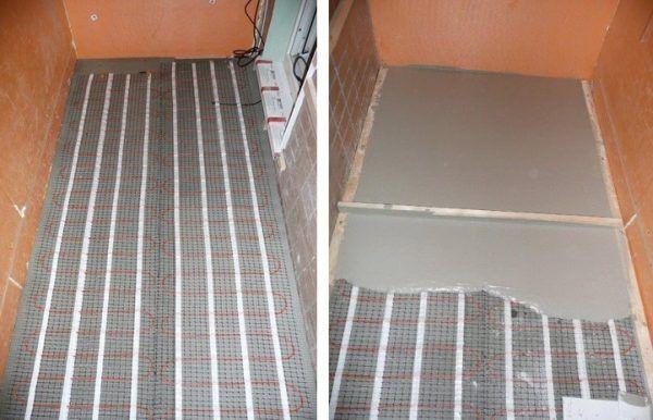 Теплый пол под стяжку на балконе