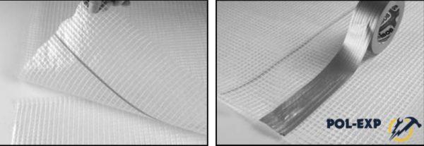Выровненный черновой пол застелите плотной полиэтиленовой пленкой с перехлестом 20 см, закрепив ее с помощью малярного скотча